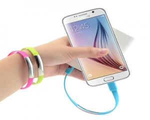 Wristband Cable Charging Data For Micro/Samsung