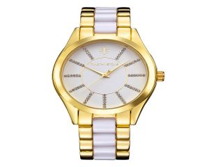 Timothy Stone Watch Charme Bicolor Gold and White