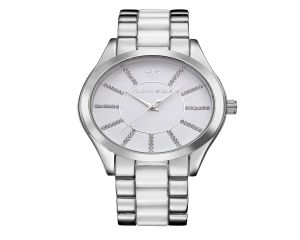 Timothy Stone Watch Charme Bicolor Silver and White