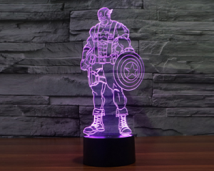 Captain America Colorful LED