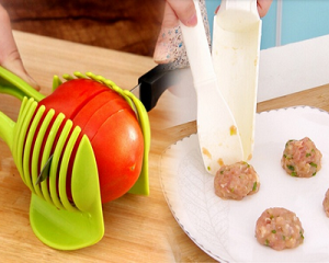 Meatball maker set + slicing holder thong